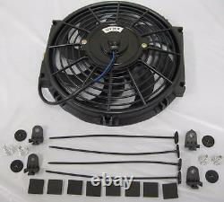 10 Heavy Duty Electric Curved S-Blade Radiator Cooling Fan with Mounting Kit