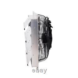 1400 CFM Shutter Exhaust Fan Wall Mounted Heavy Duty Durable Corrosive Resistant
