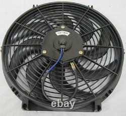 14 Universal Curved S-Blade Heavy Duty Electric Radiator Cooling Fan Mount Kit