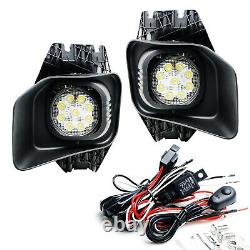 27W LED Fog/Driving Light Kit with Bezels Brackets Wiring For 11-16 F250 F350 F450