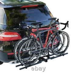 2 Bike Bicycle Carrier Hitch Mount Rack Upright Heavy Duty Back Carrier For Car