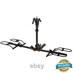 2-Bike Rack 1300 Hitch Mount Heavy Duty Steel Carrier, 200 Lbs. Capacity
