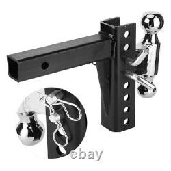 2 Receiver Trailer Hitch Adjustable Ball Mount Drop Towing Heavy Duty