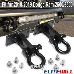 2pcs Heavy Duty Front Tow Hooks Bumper Mount for Dodge Ram 2500 / 3500 2010-2019