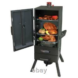 34 in. Vertical Charcoal Smoker with2 Drawer Access Heavy Duty Steel Smoky Mountain