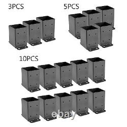 3/5/10 pcs 4x4 Heavy Duty Fence Post Mount Concrete Deck Base Post Powder Coated
