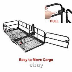 400 Lbs Heavy Duty Hitch Mount Cargo Carrier 60 x 24 x 14.4Folding Cargo Rack