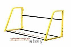 50256 Adjustable Wall Mount Tire Rack durable 1-1/4 x1tubular steel Heavy Duty