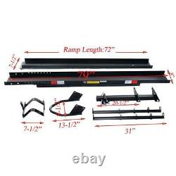 600 LBS Motorcycle Carrier Dirt Bike Rack Hitch Mount Hauler Heavy Duty With Ramp