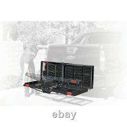 750 lb. Capacity Heavy Duty Hitch Mount Folding Cargo Carrier