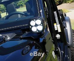 A-Pillar 20W LED Pod Light Kit withBracket, Relay For 18+ Jeep Wrangler/Gladiator
