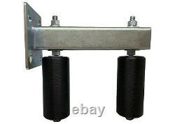 Adjustable Slide Gate Bracket Mount Double Hard Nylon Rollers Heavy Duty Steel