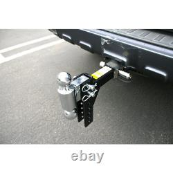 Adjustable Trailer Hitch Dual Ball Mount Drop Tow Heavy Duty Truck Pin Receiver