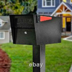 Anti-Theft Mailbox Locking Post-Mount High Security Reinforced Heavy Duty Steel
