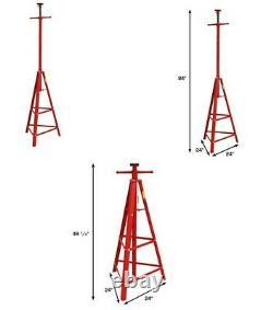 Auto Shop Steel Under Hoist Mount Tripod Stand 2 Ton Heavy Duty Red Adjustment