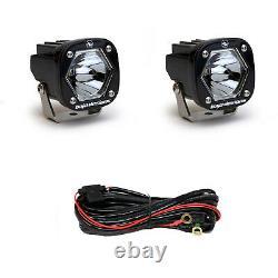 Baja Designs S1 Black Pod Spot Laser Lights With Mounting Brackets 387807