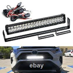 Behind Front Grille 20 LED Light Bar withMount Brakcet Wire For 19-up Toyota RAV4