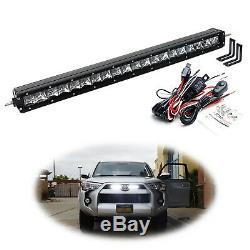Behind Upper Grill 20 LED Light Bar Kit withBracket/Wiring For 14+ Toyota 4Runner