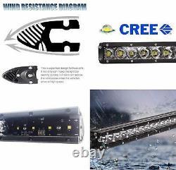 Behind Upper Grill 20 LED Light Bar Kit withBracket/Wiring For 2007-14 FJ Cruiser
