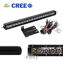 Behind Upper Grill 20 LED Light Bar withBracket/Wiring For 2008-10 Ford F250 F350