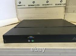 Belkin F1DC100P Black Heavy-Duty Steel 1U Rackmount 15 LCD Rack-Mount Console