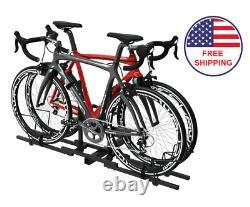 Bike Carrier Rack Car Truck Heavy Duty 2 Bicycle Mount Stand Platform Steel NEW
