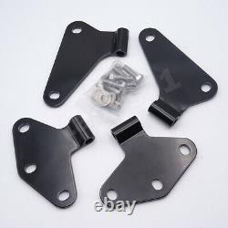 Black Heavy Duty Steel Complete 2 Door Hinge Mount Kit For Jeep Wrangler JK