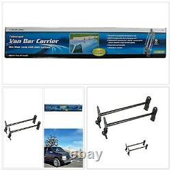 Black Heavy Duty Steel Van Bar Carrier Sturdy Ladder Cargo Gutter Mount Rack
