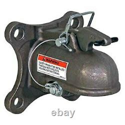 Cast Steel Flat Mount Heavy-Duty Cast Coupler for 2-5/16 Hitch Ball 15000 lbs