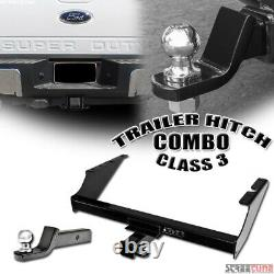 Class 3 Trailer Hitch Tube With2 Ball Towing Mount For 99-16 F250/F350 Super Duty