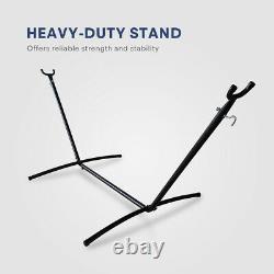 Cloud Mountain Patio Hammock with Stand Heavy Duty Steel Freestanding Outdoor