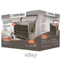 Comfort Zone Ceiling Mount 208/240 Volt Heavy Duty Industrial Heater CZ230ER