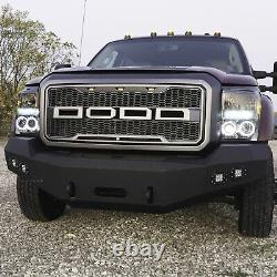 DV8 Offroad 3-Piece Front Bumper with Winch Mount & Lights for 11-16 Super Duty