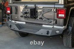 DV8 Offroad TCJL-01 Tailgate Mounted Tire Carrier For 2018+ Jeep Wrangler JL