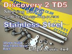 Discovery 2 TD5 Heavy Duty steering bars Stainless Steel + Damper Mount SUMOBARS