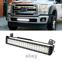 Double-Row LED Light Bar (Lower Bumper Insert Mounting Brackets & Relay Switch)