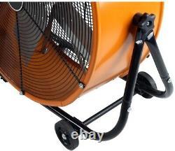 Electric Drum Fan 24 in. Heavy Duty 2-Speed Direct Drive Tilt Standalone Mount