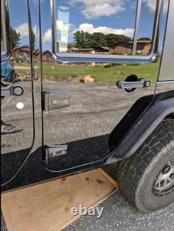 Fit 07-18 Jeep Wrangler JK 4 Door Heavy-duty Steel Door Hinge Mount Brackets Set