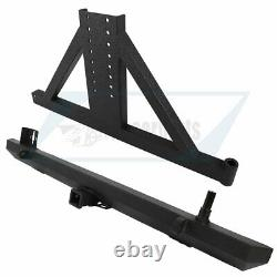 Fits for 87-06 Jeep Wrangler TJ YJ Rear Bumper with Tire Carrier & winch texture