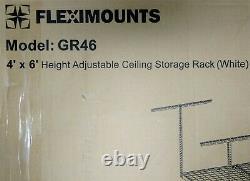 Fleximounts 4' x 6' Heavy Duty Garage Ceiling Mount Adjustable Storage Rack