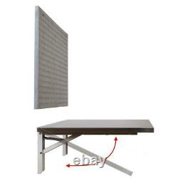 Folding Workbench Wall Mount with Peg Board Space Saver Stainless Heavy Duty NEW
