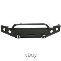 For 2007-2013 Chevy Silverado 1500 NEW Black Powder Coated Steel Front Bumper