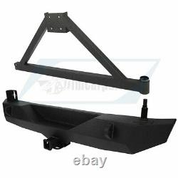 For 2007-2018 JK Jeep Wrangler Rear Bumper with Tire Carrier & D-ring Unlimited