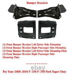 Front Bumper Bracket Set For 2008-2010 Ford F-250 Super Duty 4 Pcs Left & Right