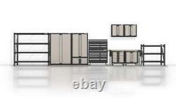 Garage Cabinet Steel Wall Mounted Heavy Duty Adjustable Shelf Lockable Doors