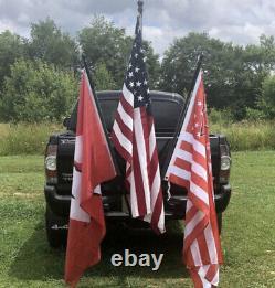 HEAVY DUTY 3 Flag Pole Holder Hitch Mount For Car Truck SUV