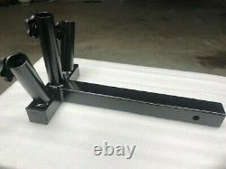 HEAVY DUTY JEEP 3 FLAG POLE HOLDER HITCH MOUNT For JEEPS, SUV with REAR SPARE