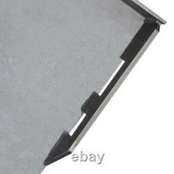 Heavy Duty 3/8 Quick Tach Attachment Mount Plate Skidsteer Bobcat Kubota Gray