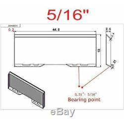 Heavy Duty 5/16Skid Steer Mount Plate Tractor Quick Attachment Tach Steel Plate