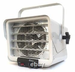 Heavy-Duty 6000W Fan Utility Heater, 1000 Sq Ft Industrial Garage Mount Hardwire